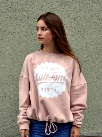 Ladies Oversized Crew Light Rose